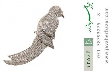 مدال نقره طرح پرنده زیبا زنانه - کد 13546