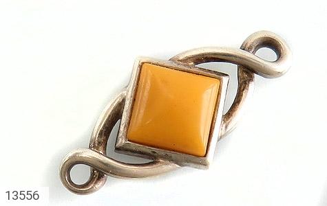 مدال کهربا بولونی لهستان طرح لوزی - عکس 1