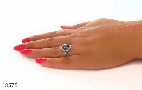 انگشتر توپاز هفت رنگ طرح شهناز زنانه - عکس 7
