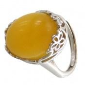انگشتر عقیق زرد درشت طرح سلنا زنانه