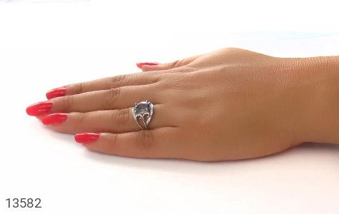 انگشتر توپاز هفت رنگ طرح نازنین زنانه - عکس 7