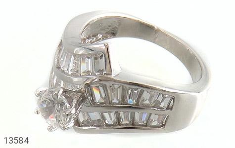 انگشتر نقره سولیتر الماس نشان زنانه - عکس 1