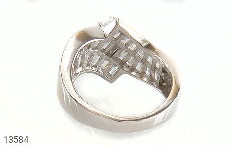 انگشتر نقره سولیتر الماس نشان زنانه - تصویر 4