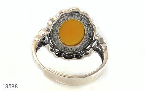 انگشتر عقیق زرد فری سایز طرح ستایش زنانه - تصویر 4