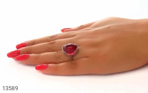 انگشتر نقره درشت طرح شهناز زنانه - عکس 7