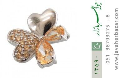 مدال نقره گل ناز زنانه - کد 13590