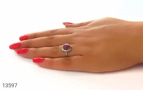 انگشتر یاقوت سرخ طرح پردیس زنانه - عکس 7