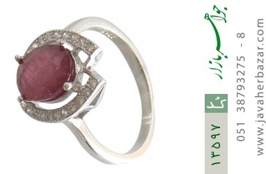 انگشتر یاقوت سرخ طرح پردیس زنانه - کد 13597