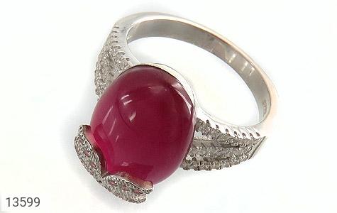انگشتر نقره طرح مهرناز زنانه - عکس 1