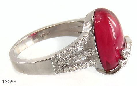 انگشتر نقره طرح مهرناز زنانه - عکس 3