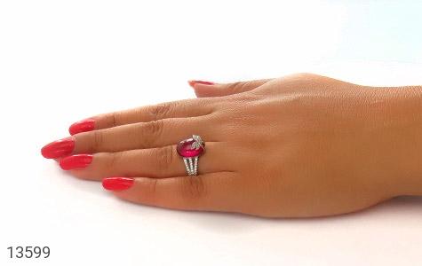 انگشتر نقره طرح مهرناز زنانه - عکس 7
