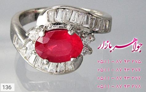 انگشتر یاقوت سرخ طرح پیچ زنانه - تصویر 2