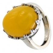 انگشتر عقیق زرد درشت طرح پارمیس زنانه