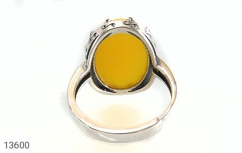 انگشتر عقیق زرد درشت طرح پارمیس زنانه - تصویر 4