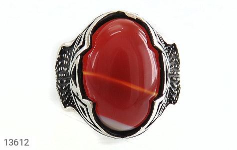 انگشتر عقیق سرخ درشت طرح یزدان مردانه - تصویر 2