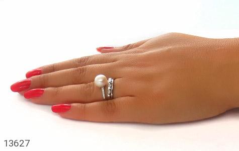 انگشتر مروارید فری سایز طرح عشق زنانه - عکس 7