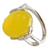 انگشتر عقیق زرد فری سایز طرح محبوب زنانه