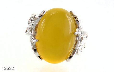 انگشتر عقیق زرد درشت طرح پرنسس زنانه - تصویر 2