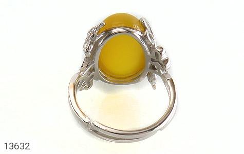 انگشتر عقیق زرد درشت طرح پرنسس زنانه - تصویر 4