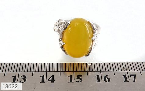 انگشتر عقیق زرد درشت طرح پرنسس زنانه - تصویر 6