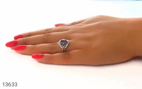 انگشتر توپاز هفت رنگ طرح مستانه زنانه - عکس 7