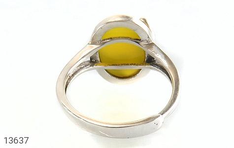 انگشتر عقیق زرد خوش رنگ طرح نازی زنانه - تصویر 4
