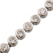 دستبند نقره آسانسوری طرح جمیل زنانه