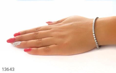 دستبند نقره آسانسوری طرح جمیل زنانه - تصویر 6