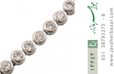 دستبند نقره آسانسوری طرح جمیل زنانه - کد 13643