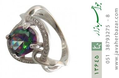 انگشتر توپاز هفت رنگ طرح سیلا زنانه - کد 13645