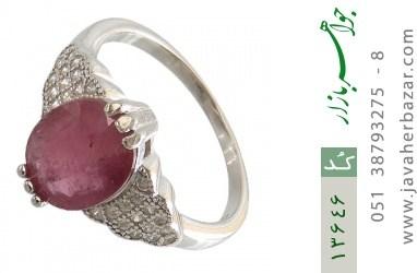 انگشتر یاقوت سرخ طرح عروس زنانه - کد 13646