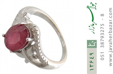 انگشتر یاقوت سرخ طرح شایسته زنانه - کد 13649