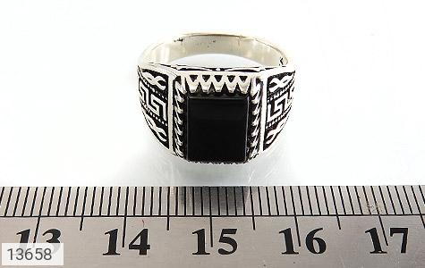 انگشتر عقیق سیاه طرح ورساچه مردانه - تصویر 6