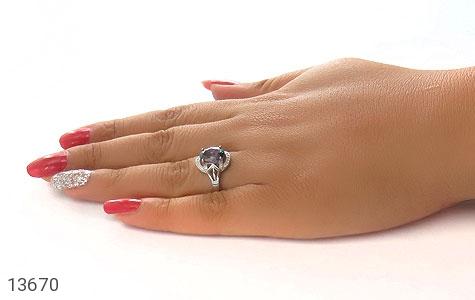 انگشتر توپاز هفت رنگ طرح ملیکا زنانه - تصویر 8
