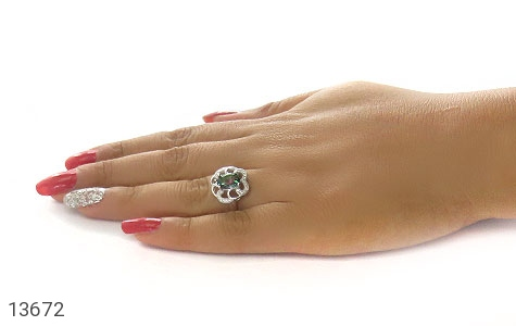 انگشتر توپاز هفت رنگ طرح صبا زنانه - عکس 7