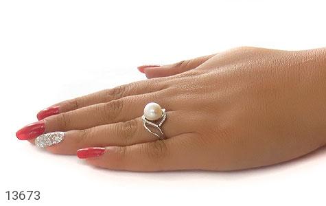 انگشتر مروارید درشت طرح یاسمن زنانه - عکس 7