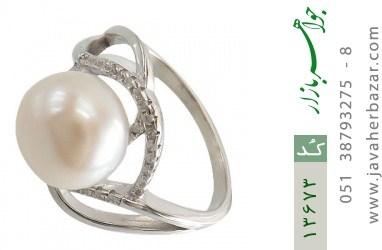 انگشتر مروارید درشت طرح یاسمن زنانه - کد 13673