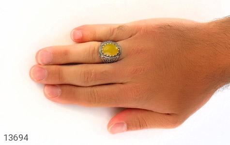 انگشتر عقیق حکاکی شرف الشمس - عکس 7