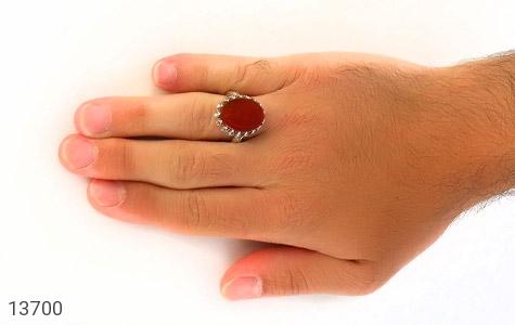 انگشتر عقیق یمن حکاکی شرف الشمس - تصویر 6