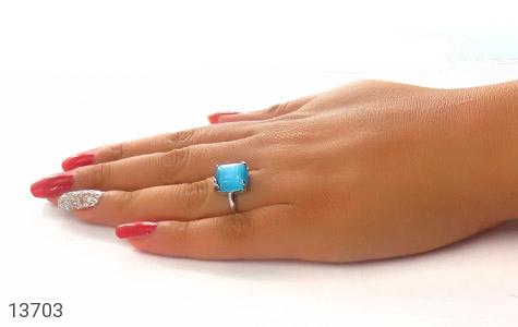 انگشتر چشم گربه آبی طرح آیلا زنانه - عکس 7
