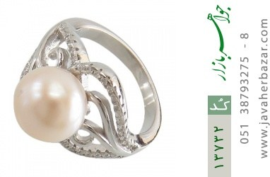 انگشتر مروارید درشت طرح غزل زنانه - کد 13732