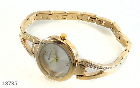 ساعت رمانسون Romanson طلائی پرنگین زنانه - عکس 1
