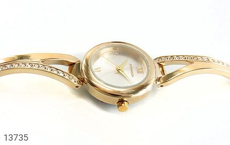 ساعت رمانسون Romanson طلائی پرنگین زنانه - تصویر 4