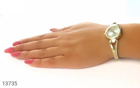 ساعت رمانسون Romanson طلائی پرنگین زنانه - عکس 9