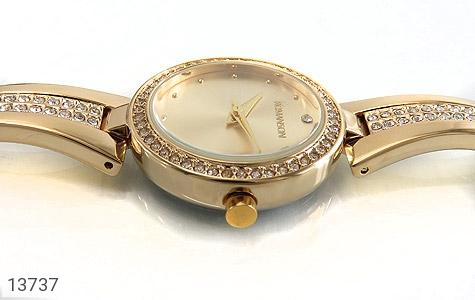 ساعت رمانسون Romanson طلائی پرنگین زنانه - عکس 3