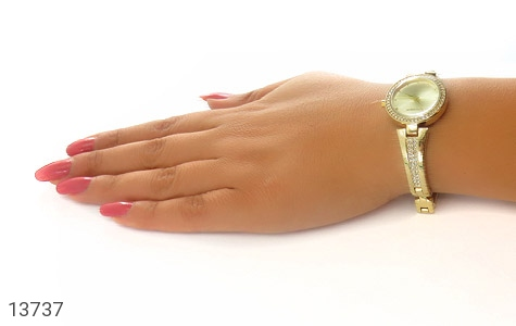ساعت رمانسون Romanson طلائی پرنگین زنانه - تصویر 8