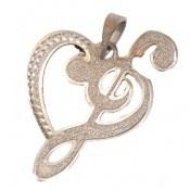 مدال نقره طرح قلب ملودی زنانه