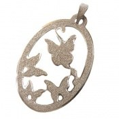 مدال نقره طرح پروانه زنانه