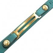 دستبند نقره و چرم خوش رنگ