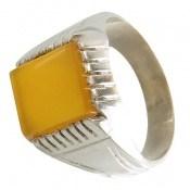 انگشتر عقیق زرد شرف الشمس طرح بهنام مردانه
